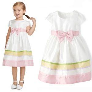 NWT • Gymboree Ribbon Striped Woven Dress size 2T